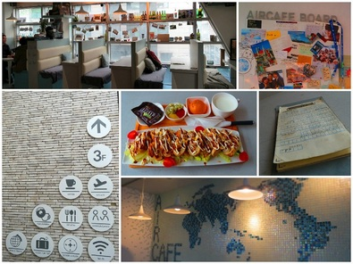 Du lịch Hàn Quốc - QuánAir café được thiết kế theo phong cách lạ
